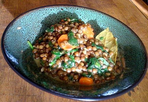Spring lentils