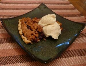 Joyful Peach and Blueberry Pie