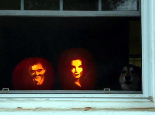 Rowan with pumpkins