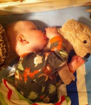 Oscar sleeps through the night